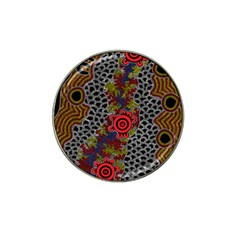 Aboriginal Art   Meeting Places Hat Clip Ball Marker (10 Pack)