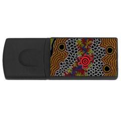 Aboriginal Art   Meeting Places Rectangular Usb Flash Drive