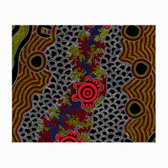 Aboriginal Art   Meeting Places Small Glasses Cloth (2 Side)