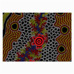 Aboriginal Art   Meeting Places Large Glasses Cloth (2 Side)