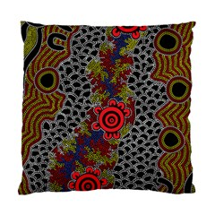 Aboriginal Art   Meeting Places Standard Cushion Case (one Side)