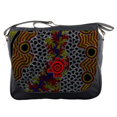 Aboriginal Art   Meeting Places Messenger Bags