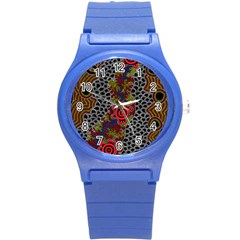 Aboriginal Art   Meeting Places Round Plastic Sport Watch (s)