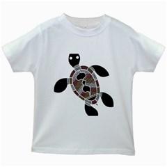 Aboriginal Art   Untitled Kids White T Shirts