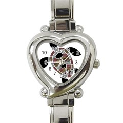 Aboriginal Art   Untitled Heart Italian Charm Watch