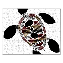 Aboriginal Art   Untitled Rectangular Jigsaw Puzzl