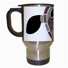 Aboriginal Art   Untitled Travel Mugs (white)