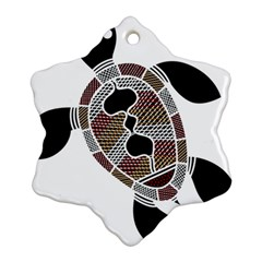 Aboriginal Art   Untitled Snowflake Ornament (two Sides)