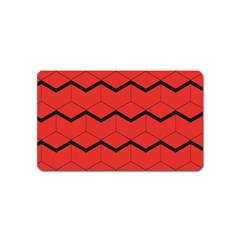 Red Box Pattern Magnet (name Card)