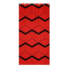 Red Box Pattern Shower Curtain 36  X 72  (stall)