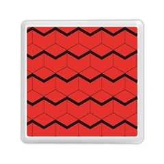Red Box Pattern Memory Card Reader (square)