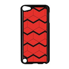 Red Box Pattern Apple Ipod Touch 5 Case (black)