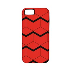 Red Box Pattern Apple Iphone 5 Classic Hardshell Case (pc+silicone)