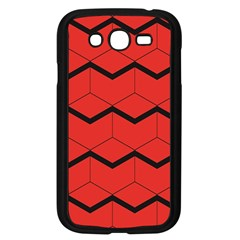 Red Box Pattern Samsung Galaxy Grand Duos I9082 Case (black)