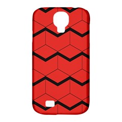 Red Box Pattern Samsung Galaxy S4 Classic Hardshell Case (pc+silicone)