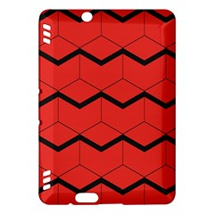Red Box Pattern Kindle Fire Hdx Hardshell Case