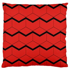 Red Box Pattern Standard Flano Cushion Case (two Sides)