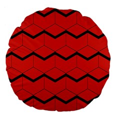 Red Box Pattern Large 18  Premium Flano Round Cushions