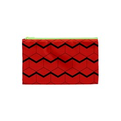 Red Box Pattern Cosmetic Bag (xs)