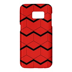 Red Box Pattern Samsung Galaxy S7 Hardshell Case
