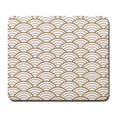 Art Deco,japanese Fan Pattern, Gold,white,vintage,chic,elegant,beautiful,shell Pattern, Modern,trendy Large Mousepads
