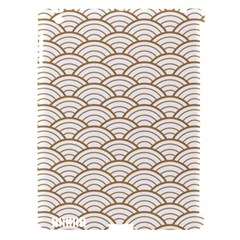 Art Deco,japanese Fan Pattern, Gold,white,vintage,chic,elegant,beautiful,shell Pattern, Modern,trendy Apple Ipad 3/4 Hardshell Case (compatible With Smart Cover)