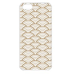 Art Deco,japanese Fan Pattern, Gold,white,vintage,chic,elegant,beautiful,shell Pattern, Modern,trendy Apple Iphone 5 Seamless Case (white)