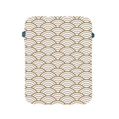 Art Deco,japanese Fan Pattern, Gold,white,vintage,chic,elegant,beautiful,shell Pattern, Modern,trendy Apple Ipad 2/3/4 Protective Soft Cases