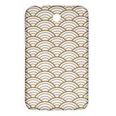 Art Deco,japanese Fan Pattern, Gold,white,vintage,chic,elegant,beautiful,shell Pattern, Modern,trendy Samsung Galaxy Tab 3 (7 ) P3200 Hardshell Case