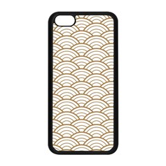 Art Deco,japanese Fan Pattern, Gold,white,vintage,chic,elegant,beautiful,shell Pattern, Modern,trendy Apple Iphone 5c Seamless Case (black)
