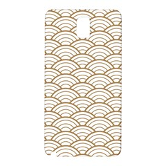 Art Deco,japanese Fan Pattern, Gold,white,vintage,chic,elegant,beautiful,shell Pattern, Modern,trendy Samsung Galaxy Note 3 N9005 Hardshell Back Case