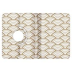 Art Deco,japanese Fan Pattern, Gold,white,vintage,chic,elegant,beautiful,shell Pattern, Modern,trendy Kindle Fire Hdx Flip 360 Case