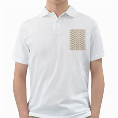 Art Deco,japanese Fan Pattern, Gold,white,vintage,chic,elegant,beautiful,shell Pattern, Modern,trendy Golf Shirts