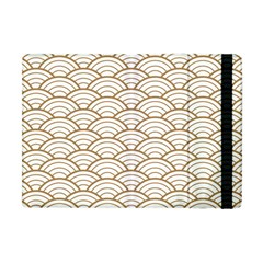 Art Deco,japanese Fan Pattern, Gold,white,vintage,chic,elegant,beautiful,shell Pattern, Modern,trendy Apple Ipad Mini Flip Case