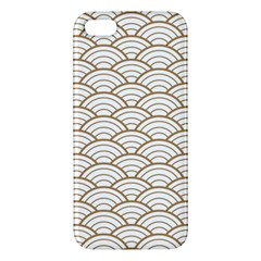 Art Deco,japanese Fan Pattern, Gold,white,vintage,chic,elegant,beautiful,shell Pattern, Modern,trendy Apple Iphone 5 Premium Hardshell Case