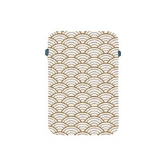 Art Deco,japanese Fan Pattern, Gold,white,vintage,chic,elegant,beautiful,shell Pattern, Modern,trendy Apple Ipad Mini Protective Soft Cases