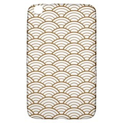 Art Deco,japanese Fan Pattern, Gold,white,vintage,chic,elegant,beautiful,shell Pattern, Modern,trendy Samsung Galaxy Tab 3 (8 ) T3100 Hardshell Case