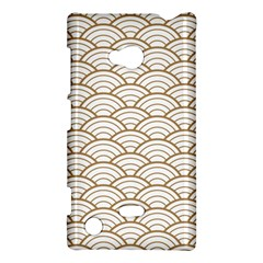 Art Deco,japanese Fan Pattern, Gold,white,vintage,chic,elegant,beautiful,shell Pattern, Modern,trendy Nokia Lumia 720
