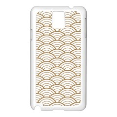Art Deco,japanese Fan Pattern, Gold,white,vintage,chic,elegant,beautiful,shell Pattern, Modern,trendy Samsung Galaxy Note 3 N9005 Case (white)