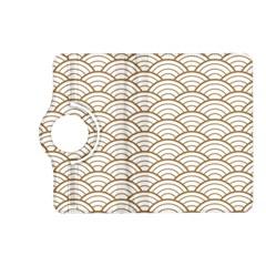 Art Deco,japanese Fan Pattern, Gold,white,vintage,chic,elegant,beautiful,shell Pattern, Modern,trendy Kindle Fire Hd (2013) Flip 360 Case