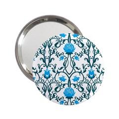 Art Nouveau, Art Deco, Floral,vintage,blue,green,white,beautiful,elegant,chic,modern,trendy,belle ¨|poque 2 25  Handbag Mirrors