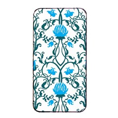 Art Nouveau, Art Deco, Floral,vintage,blue,green,white,beautiful,elegant,chic,modern,trendy,belle ¨|poque Apple Iphone 4/4s Seamless Case (black)