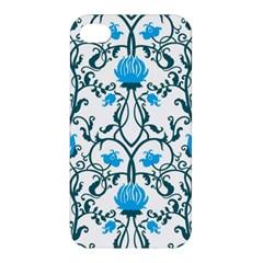 Art Nouveau, Art Deco, Floral,vintage,blue,green,white,beautiful,elegant,chic,modern,trendy,belle ¨ poque Apple Iphone 4/4s Premium Hardshell Case