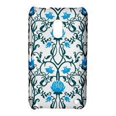 Art Nouveau, Art Deco, Floral,vintage,blue,green,white,beautiful,elegant,chic,modern,trendy,belle ¨|poque Nokia Lumia 620