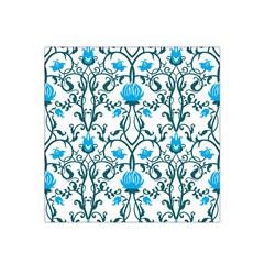 Art Nouveau, Art Deco, Floral,vintage,blue,green,white,beautiful,elegant,chic,modern,trendy,belle Époque Satin Bandana Scarf