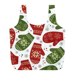 Winter Snow Mittens Full Print Recycle Bags (l)