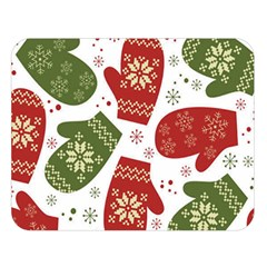 Winter Snow Mittens Double Sided Flano Blanket (large)