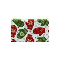 Winter Snow Mittens Cosmetic Bag (xs)