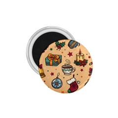 Cute Vintage Christmas Pattern 1 75  Magnets