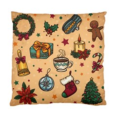 Cute Vintage Christmas Pattern Standard Cushion Case (two Sides)